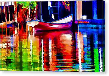 Along The Dock Canvas Print