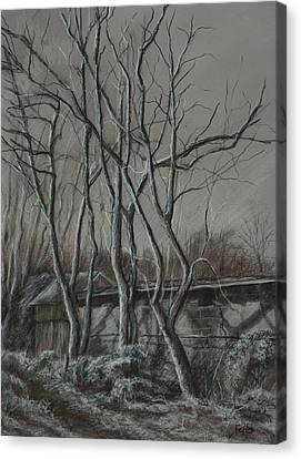 Along The Greenway 2 Canvas Print by Janet Felts