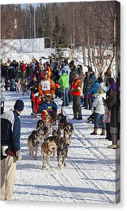 Along The Iditarod Route In Anchorage Canvas Print by Tim Grams