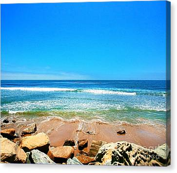 Along The Rincon California Surf Spot From The Book My Ocean Canvas Print