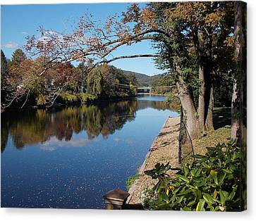 Along The River In Shelbourne Falls Canvas Print
