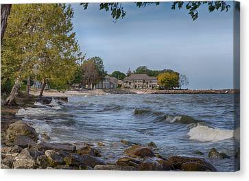 Canvas Print featuring the photograph Along The Shores Of Marblehead by John M Bailey