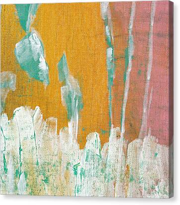 Canvas Print featuring the painting Along The White Picket Fence C2013 by Paul Ashby