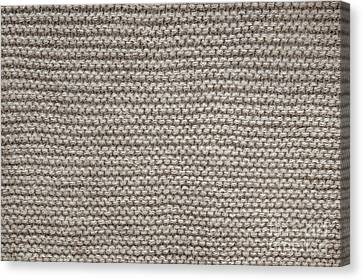 Alpaca Wool Knit Texture Canvas Print by Elena Elisseeva