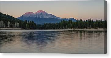 Alpenglow At The Lake Canvas Print by Loree Johnson