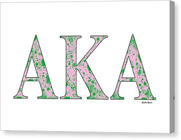 Alpha Kappa Alpha - White Canvas Print by Stephen Younts