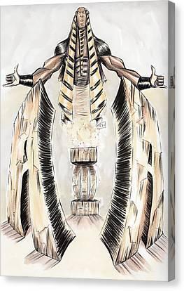 Alpha Pharaoh  Canvas Print by Tu-Kwon Thomas