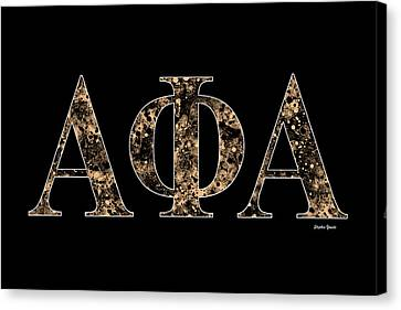 Campus Canvas Print - Alpha Phi Alpha - Black by Stephen Younts