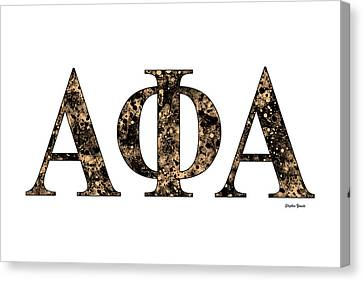 Alpha Phi Alpha - White Canvas Print by Stephen Younts