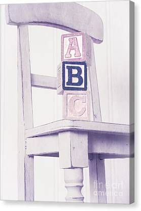 Chair Canvas Print - Alphabet Blocks Chair by Edward Fielding