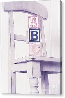Alphabet Blocks Chair Canvas Print by Edward Fielding