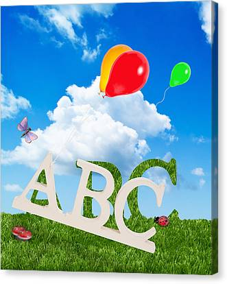 Alphabet Letters Canvas Print