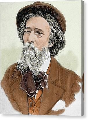 Alphonse Daudet (1840-1897 Canvas Print by Prisma Archivo