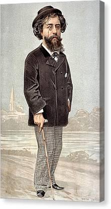 Alphonse Daudet (1840-97) Canvas Print by Granger