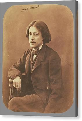 Alphonse Daudet Nadar Gaspard Félix Tournachon Canvas Print by Litz Collection