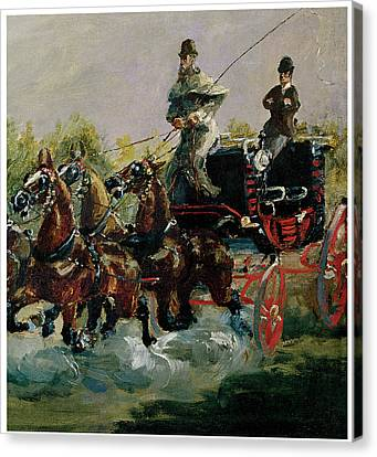 Alphonse De Toulouse-lautrec Driving His Four-in-hand Canvas Print