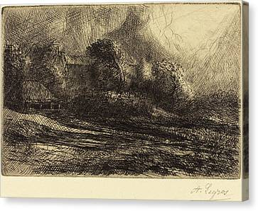 Alphonse Legros, Chailli Seen In A Storm Chailli Effet Canvas Print by Quint Lox