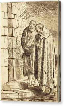 Alphonse Legros, Saint Peter And Saint Paul In The Door Of M Canvas Print by Quint Lox