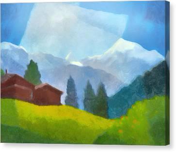Alpin Impression Canvas Print