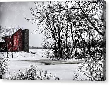 Alpine Barn Michigan Canvas Print