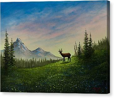 Alpine Beauty Canvas Print by C Steele