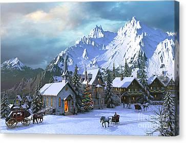 Alpine Christmas Canvas Print