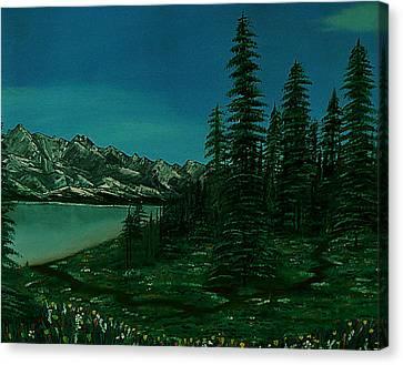 Alpine Garden Canvas Print by Barbara St Jean