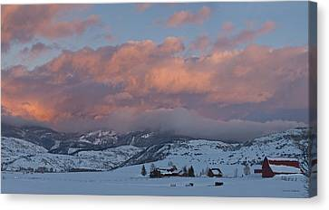 Alpine Glow Over Elk Mountain Meadows Canvas Print by Daniel Hebard