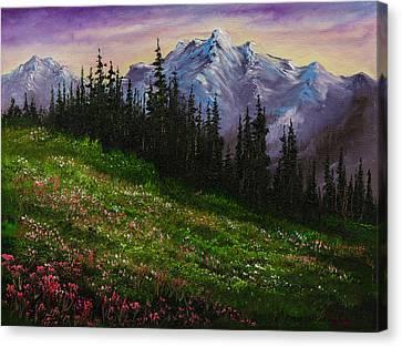Alpine Meadow Canvas Print by C Steele