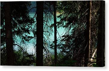 Alpine Stain Glass Canvas Print