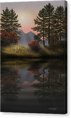 Mountain View Canvas Print - Alpine View Reflections by Frank Wilson