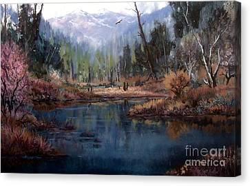 Alpine Wonder Canvas Print by W  Scott Fenton