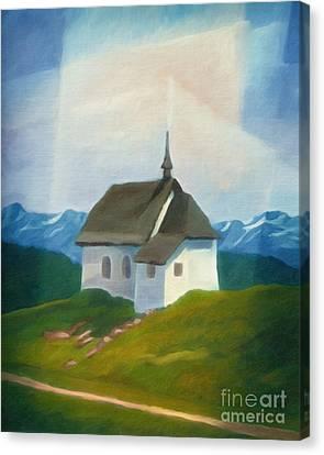 Alps Chapel Canvas Print by Lutz Baar