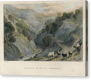 Localities Canvas Print - Alps. Shepherd In Germanasca Valley by Everett