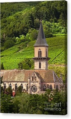 Alsace Church Canvas Print by Brian Jannsen