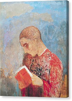 Alsace Or Monk Reading Canvas Print