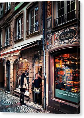 Canvas Print featuring the photograph Alsace Slice Of Life by Jim Hill