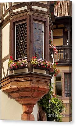 Alsace Window Canvas Print by Brian Jannsen