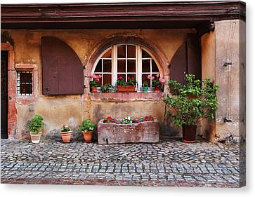 Alsatian Home In Kaysersberg France Canvas Print by Greg Matchick