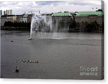 Alster Lake Day In Hamburg Canvas Print