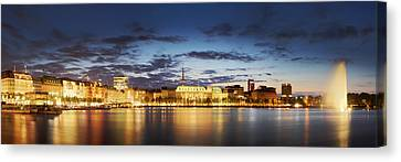 Alsterpanorama Hamburg Canvas Print