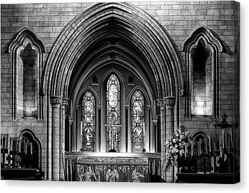 Altar At St Patricks Cathedral - Close Up Canvas Print by Photography  By Sai