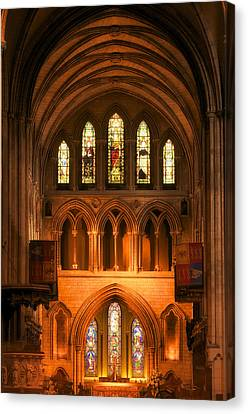 Canvas Print featuring the photograph Altar Of St. Patrick's Cathedral by Photography  By Sai