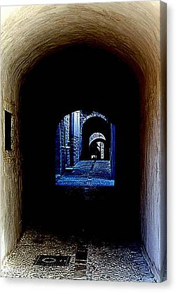 Altered Arch Walkway Canvas Print