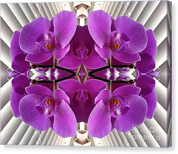 Orchids In The Window - Enhanced Canvas Print by Carol Groenen