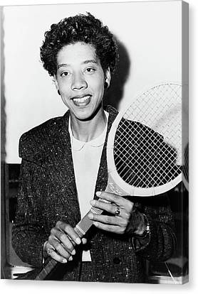Althea Canvas Print - Althea Gibson (1927-2003) by Granger