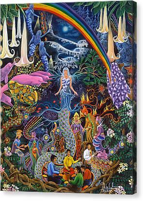 Ayahuasca Visions Canvas Print - Alto Cielo by Pablo Amaringo