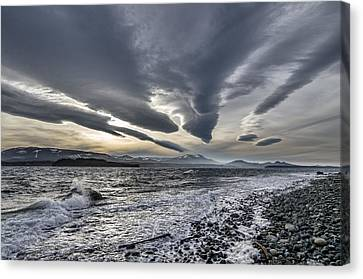 Altocumulous Standing Lenticular Clouds Canvas Print by Darryl Luscombe