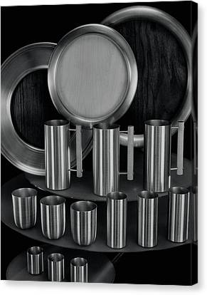 Stein Canvas Print - Aluminum Tableware by Martinus Andersen