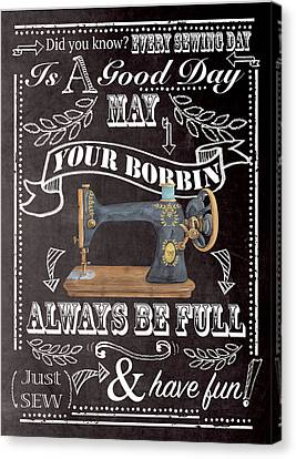 Always Be Full Canvas Print by P.s. Art Studios
